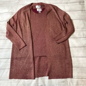 Susan Graver Style Womens XL 2 Piece Sweater Set